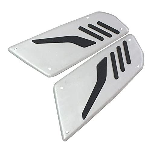 reposapies Moto Nuevos Pedales de Plata de la Motocicleta Papeles de pie Papeles para Tmax T-MAX 530...
