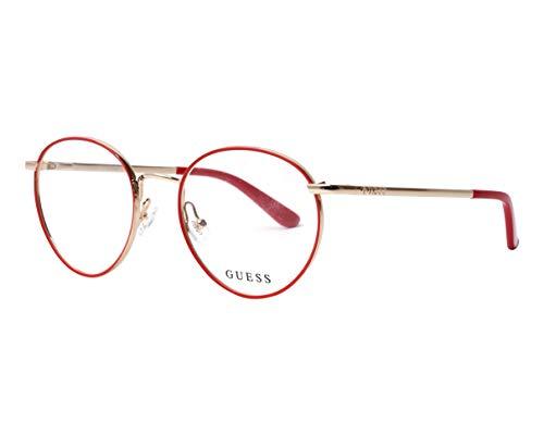 Guess GU-2725 068 - Gafas de sol (metal), color rojo y dorado