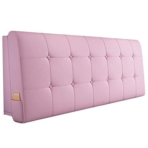QIANCHENG-Cushion Kopfteil Kissen Bett Rückenkissen Rückenlehne PU Kissen Schwamm Soft Case Zuhause Bett Rückenlehne, 6 Farben Wahlweise (Color : #3, Size : 90x58cm)