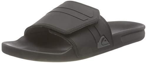 Quiksilver Rivi Slide Adjust, Sandalia Hombre, Black/Grey/Black, 39 EU