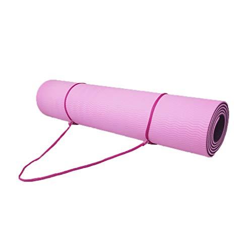HONGGE Almohadilla de Ejercicio de Yoga Antideslizante de la Capa Antideslizante de TPE Yoga con línea de posición para Gimnasia y Pilates de Fitness (Color : 13)