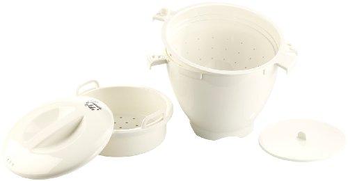 Rosenstein & Söhne Mikrowellen Garer: Mikrowellen-Dampfgarer, 5-teilig (Dampfgarer Geschirr für Mikrowelle)
