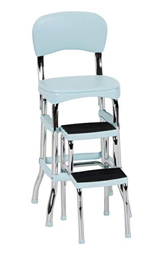 COSCO 11120TEA1E Stylaire Chair and Step Stool, Teal