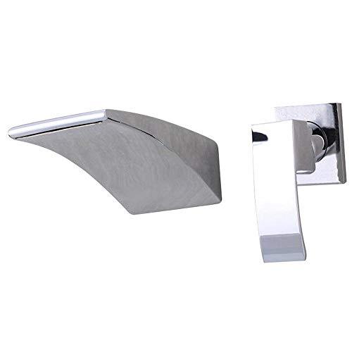 grifo cascada pared moderno Tocador de Baño Grifo del Fregadero, grifo lavabo...