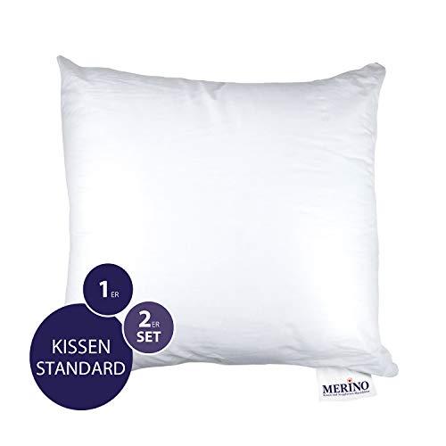 MERINO BETTEN Premium Kopfkissen 70x70 | Couchkissen | Kissenhülle versteppt ohne Reißverschluss | Serie Standard