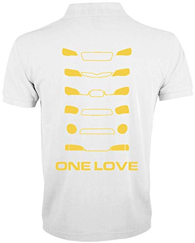 Desconocido One Love Rally Cross Cars Racing Polo de Hombre
