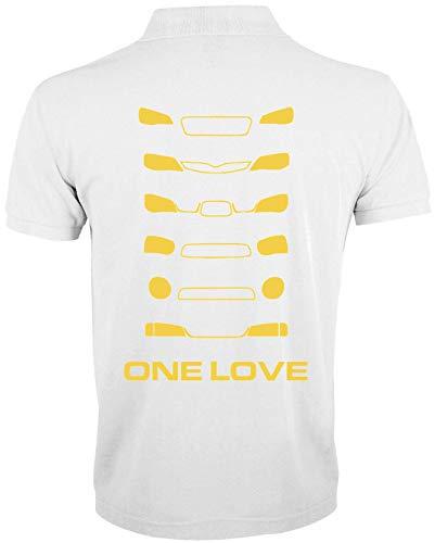 Desconocido One Love Rally Cross Cars Racing Polo de Hombre