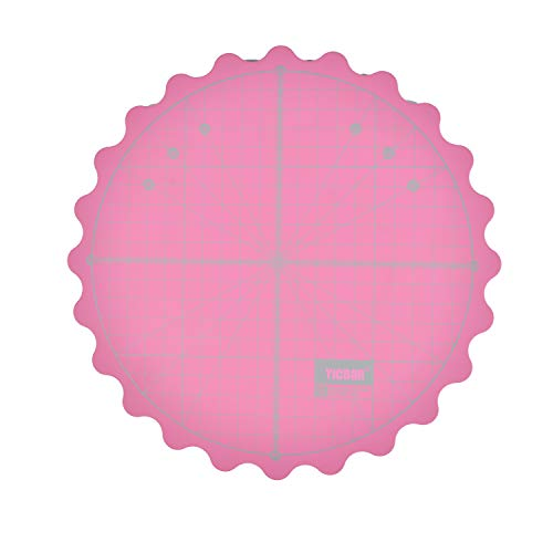 YICBOR Self Healing Rotary Cutting Mat for Office School Supplies Quilting, Paper Craft, Clay Craft, Art Craft Size 8 inch … (Pink)