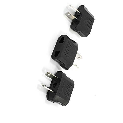 Aexit 3Pcs 2Pin AU a EU / US Socket Travel Plug Adattatore AC 250V 10A...