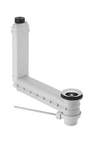 Geberit Clou 152.018.00.1 Drain and Overflow Pipe Fitting with Lever Actuator for Pop-Up Drain Fitting by Geberit