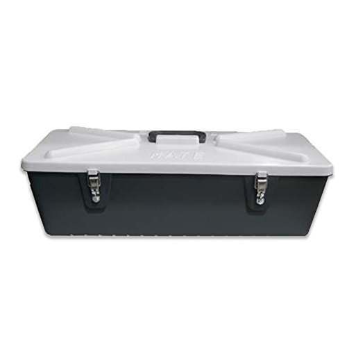 """Special Mate 5"""" Fishing Lure Box - Body Bait Storage for 128 Lures - Grey/ White - Durable Hard Plastic With Metal Latches - #5128"""