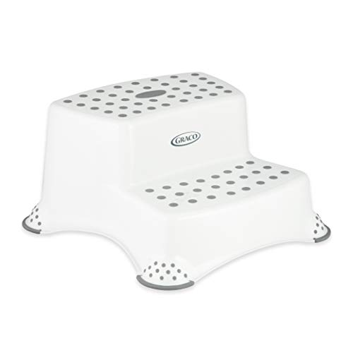 Graco Double Step Stool with AntiSlip Grip  White