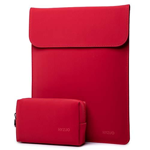HYZUO 13-13,5 Zoll Laptop Hülle Tasche Laptophülle Compatibel mit 13,5 Surface Laptop/Alt MacBook Air 13/MacBook Pro 13 2012-2015/12,9 iPad Pro 2015 2017/Hp Spectre x360 13, Rot
