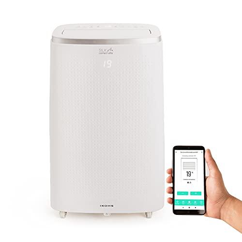 IKOHS SILKAIR Connect Elite - Aire Acondicionado Portátil, 12000BTU, 3000 Frigorías, con 4 en 1 Aire Acondicionado, Calefactor, Ventilador, y Deshumidificador, Muy Silencioso, Incluye Mando, WiFi