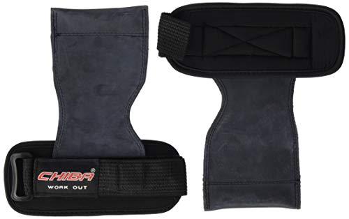 Chiba Trainingshilfe Power Grips Zughilfe, schwarz, One size