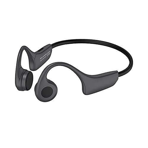 skrskr H10 Bone Conduction Headset Bluetooth 5.0 Auriculares inalámbricos 8GB Reproductor de MP3 con micrófono para teléfonos Inteligentes Tablet PC Notebook