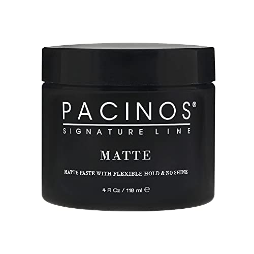 Pacinos Matte Hair Paste - Flexible Hold, No Shine, Sculpting & Styling Wax, Long Lasting Definition & Texture, No Flakes, All Hair Types, 4 fl. oz.