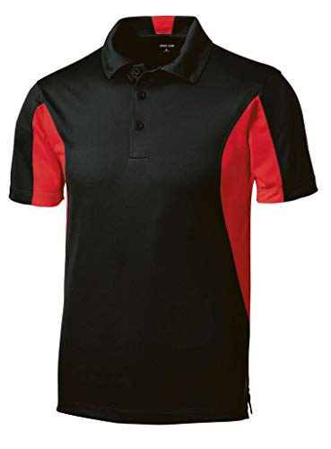 Joe's USA Micropique Tall Polo's in Size 2X-Large Tall -2XLT Black/True Red