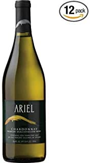 Ariel Chardonnay Non-alcoholic White Wine 750ml 12 Pack (Pack of 12)