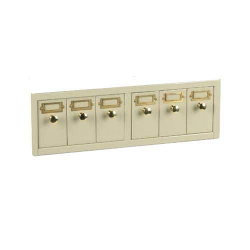Globe Scientific 513500T Slide Storage Cabinet, 6 Drawers, Holds 4500 Slides, Tan