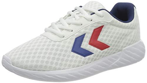 Hummel Damen Legend Breather Sneaker Niedrig, Weiß/Blau/Rot, 43 EU