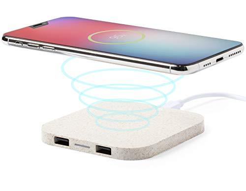 caricatore wireless blackview MKTOSASA - Mini Caricatore Wireless Qi 5W con 2 Uscite USB 2100mAh. Carica 3 Dispositivi Contemporaneamente. per iPhone