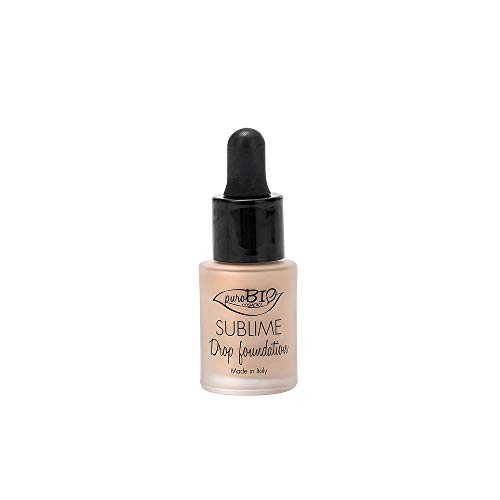PuroBio Sublime Drop foundation Base fluida Anticontaminación 15 ml color 1