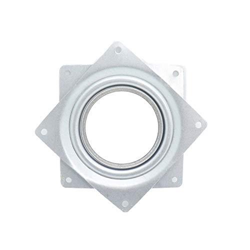 Wuxun-Zhou Kits de rodamientos giratorios de 4 Pulgadas 2pcs Placa de rotación giratoria Placa de reemplazo de Spinner de 5/16 Pulgadas de Grosor para Rejillas de visualización