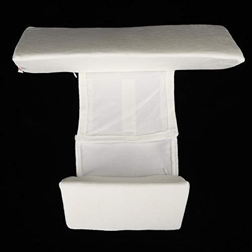 Posicionador de sueño lateral infantil, almohada de cuña para dormir lateral de bebé ajustable en altura para bebé(Almohada triangular blanca, 12)