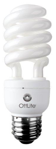 OttLite15ED42015W Swirl Screw in Light Bulb, Natural Light
