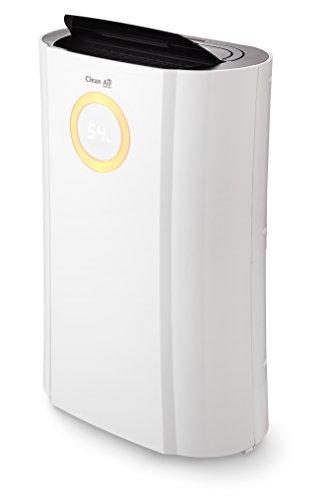 Luftentfeuchter und Luftreiniger CA-704 - bis 10L pro Tag - für Räume bis 40m² - inkl. Hygrostat, Farbmonitor, Ionisator, Timer und UVC-Lampe