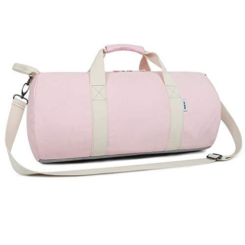 Oflamn Kleine Reisetasche für Männer und Damen - Sporttasche Segeltuch Trainingstasche - Travel Duffel Bag & Sports Gym Bag (2.0 Rosa)