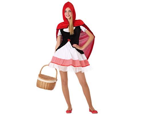 Atosa-61617 Atosa-61617 Kostüm Mädchen Märchenfiguren Damen, Rot, Jugendliche