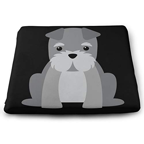 Arehji Schnauzer Soft Square Seat Pad Decoration Chair Cushion Breathable Cover