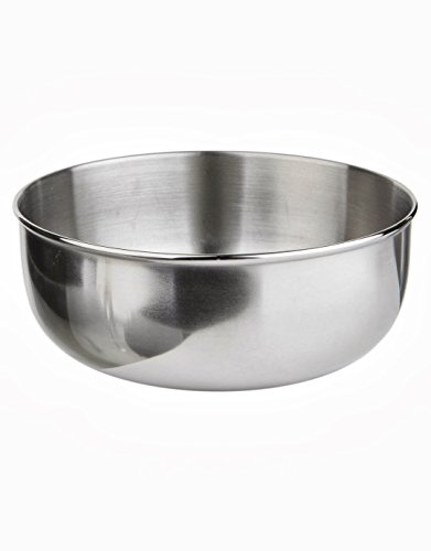 Lifeventure Stainless Steel Camping Bowl Cuvete Unisex-Adult, Silver