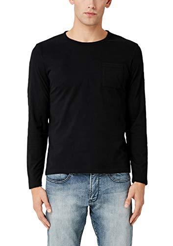 s.Oliver Herren 13.909.31.5224 Langarmshirt, Schwarz (Black 9999), Large (Herstellergröße: L)