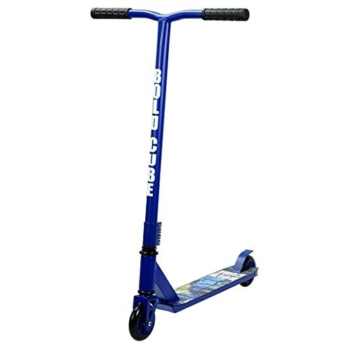 BOLDCUBE Freestyle Stunt Scooter Monopattino - PRO 360 Degree Trick - Ponte Leggero in Alluminio - con Cuscinetti a Sfera ABEC 7 – per Adulti e Bambini (Blu Scuro)