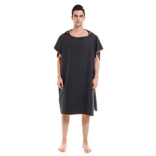 Toalla cambiadora de traje de neopreno, de secado rápido, toalla cambiadora con capucha para buceo, surf, natación, traje de neopreno, unisex, talla única