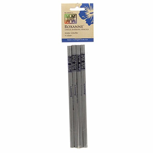 Colonial Needle Roxanne RX-BPEN-S Quilters Choice Marking Pencils Silver 4Pc