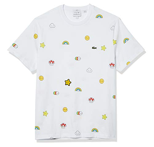 Lacoste Men's CROCOSERIES Friends with You Short Sleeve T-Shirt, White, XL