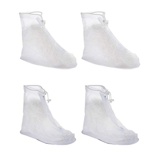 SM SunniMix 2 Pares de Fundas Antideslizantes Reutilizables para Zapatos de Lluvia Cubrezapatos Protector de Botas L XXL