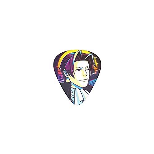 Miles Edgeworth Apollo Justice Ace Attorney anime Chitarra Pick 12 Confezioni Creative plettro Chitarra elettrica legno chitarra unisex