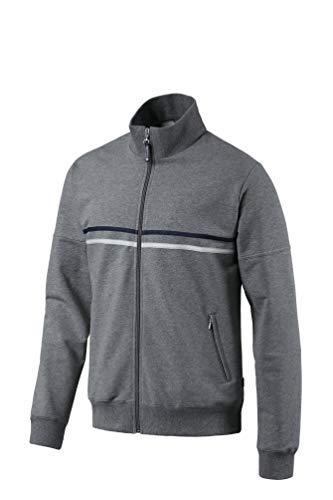 Schneider Sportswear Herren Jacke Dieter, Stahl Meliert/Schwarz, 54