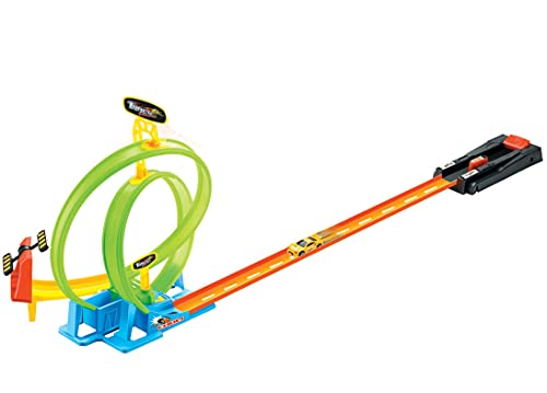 Looping - Pista de carreras con rampa de lanzamiento, 125 cm