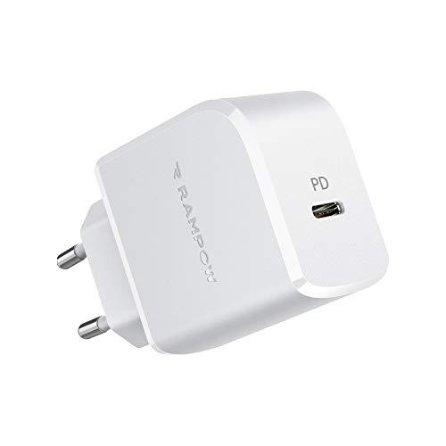 RAMPOW USB C Ladegerat 20W USB C Ladegerat mit Power Delivery 30 USB C Netzteil fur iPhone 11 ProSamsung Galaxy S20 Huawei Mate 30 Pro HTC 10 iPad Pro Microsoft Surface und mehr Weis
