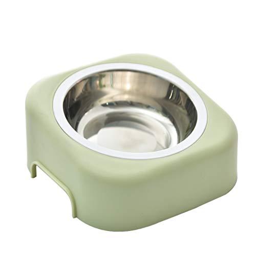 ZhuFengshop huisdier kom hond kom niet slip, huisdier voedsel kom niet morsen met afneembare roestvrijstalen kom, gemakkelijk schoon Vaatwasser voor honden en katten binnen, buiten, balkon,draagbaar Groen