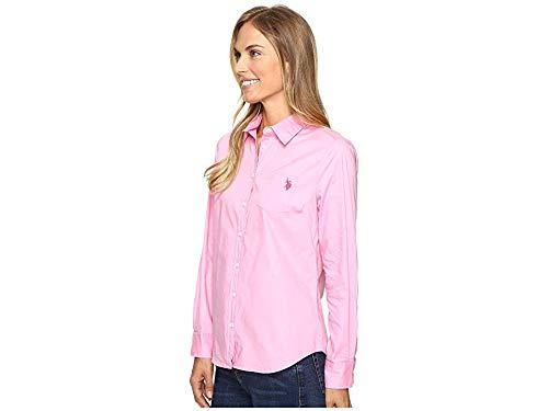 Damen,Women,Donna,Polo Shirt,Langarm,Longsleeve,Grau,NEU,S,L,XL, POLO ASSN U.S