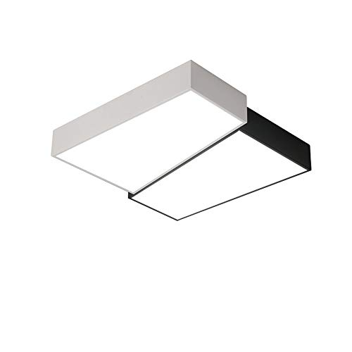 OUUED Couleur Blanc Noir moderne Intérieur Plafond LED Ornement Surface Lumières 24W Lumière du jour Plafonnier 40cm étanche IP20 for la cuisine Salle de bains Chambre Hall d'entrée [Classe énergétiqu
