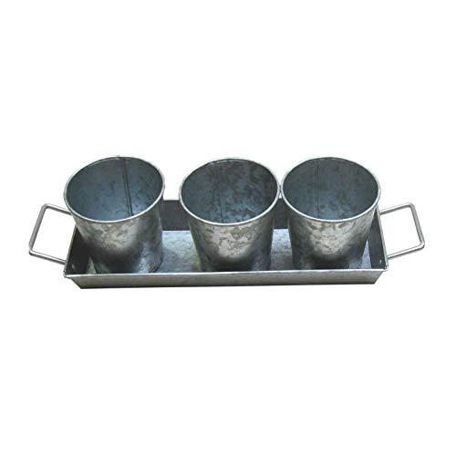 3 pots et plateau poign�es