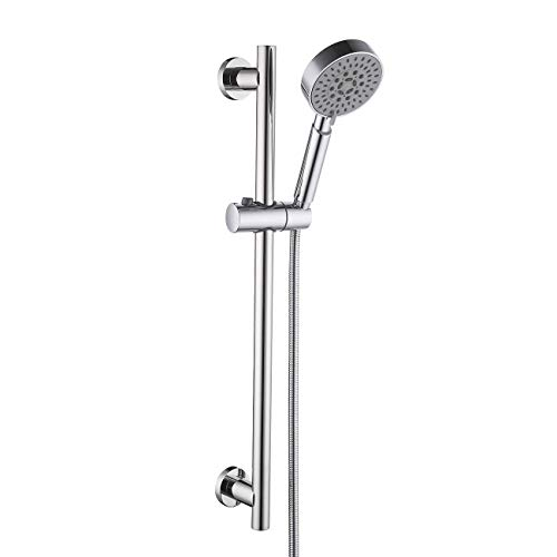 KES 5-Function Hand Shower Head with Adjustable Slide Bar, Polished SUS304 Stainless Steel, F204+KP500